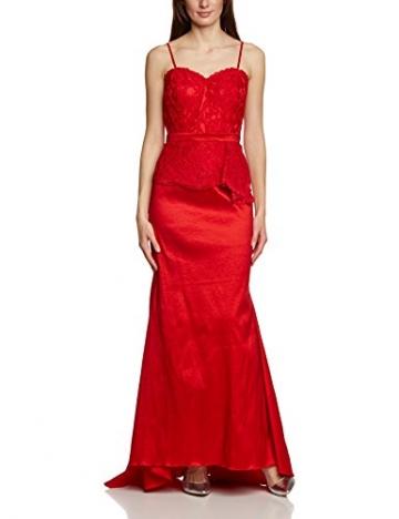 APART Fashion Damen Bustier Kleid 68103, Maxi, Einfarbig, Gr. 38, Rot - 3