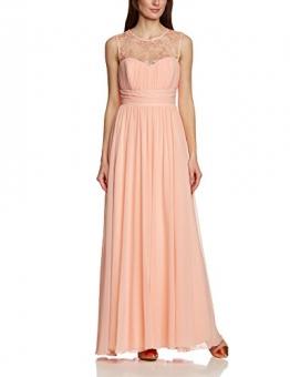 APART Fashion Damen Cocktail Kleid 28242, Maxi, Einfarbig, Gr. 44, Rosa (APRICOT) - 1
