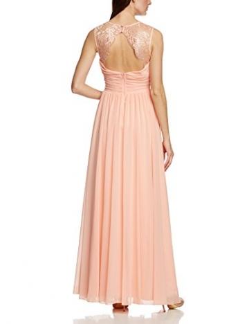 APART Fashion Damen Cocktail Kleid 28242, Maxi, Einfarbig, Gr. 44, Rosa (APRICOT) - 2