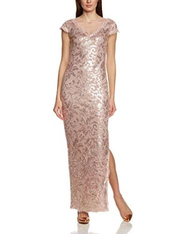 APART Fashion Damen Cocktail Kleid 46362, Maxi, Einfarbig, Gr. 44, Rosa (MAUVE) - 1