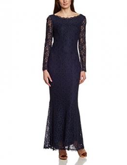 APART Fashion Damen Cocktail Kleid 56909, Maxi, Einfarbig, Gr. 38, Blau (NACHTBLAU) - 1
