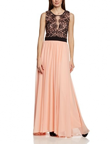APART Fashion Damen Cocktail Kleid 69888, Maxi, Mehrfarbig, Gr. 40, Mehrfarbig (APRICOT-SCHWARZ) - 1