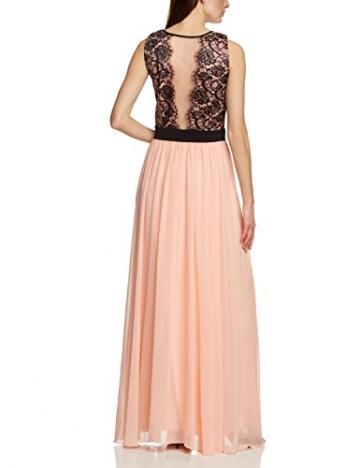 APART Fashion Damen Cocktail Kleid 69888, Maxi, Mehrfarbig, Gr. 40, Mehrfarbig (APRICOT-SCHWARZ) - 2