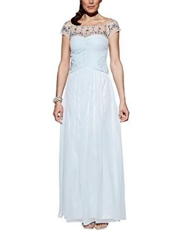 APART Fashion Damen Cocktail Kleid Chiffonkleid, Maxi, Gr. 36, Blau (eisblau) - 1