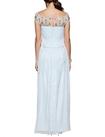APART Fashion Damen Cocktail Kleid Chiffonkleid, Maxi, Gr. 36, Blau (eisblau) - 2