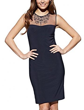 APART Fashion Damen Cocktail Kleid Jerseykleid, Knielang, Gr. 42, Schwarz (nachtblau) - 1