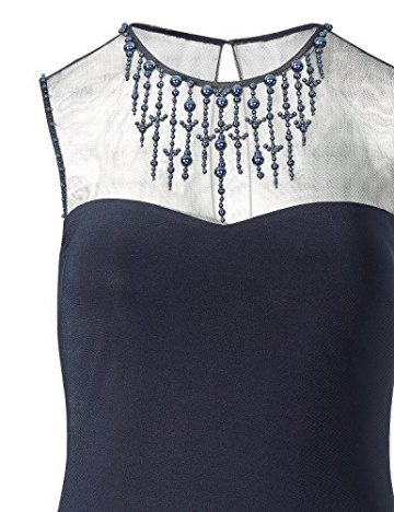 APART Fashion Damen Cocktail Kleid Jerseykleid, Knielang, Gr. 42, Schwarz (nachtblau) - 3