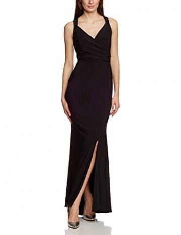 APART Fashion Damen Dekolletiertes Kleid 56051, Maxi, Einfarbig, Gr. 38, Schwarz - 1