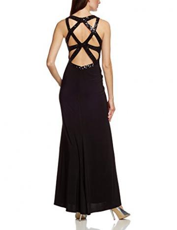 APART Fashion Damen Dekolletiertes Kleid 56051, Maxi, Einfarbig, Gr. 38, Schwarz - 2