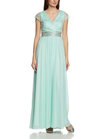 APART Fashion Damen Empire Kleid 45602, Maxi, Einfarbig, Gr. 42, Grün (MINT) - 1