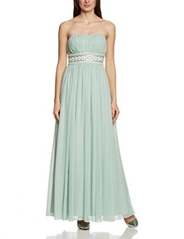 APART Fashion Damen Empire Kleid 49733, Maxi, Einfarbig, Gr. 36, Grün (JADE) - 1