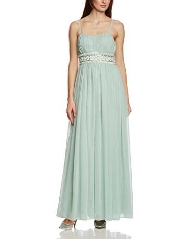 APART Fashion Damen Empire Kleid 49733, Maxi, Einfarbig, Gr. 36, Grün (JADE) - 3