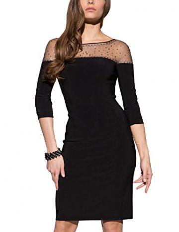 APART Fashion Damen Etui Kleid Jerseykleid, Knielang, Gr. 42, Schwarz - 1