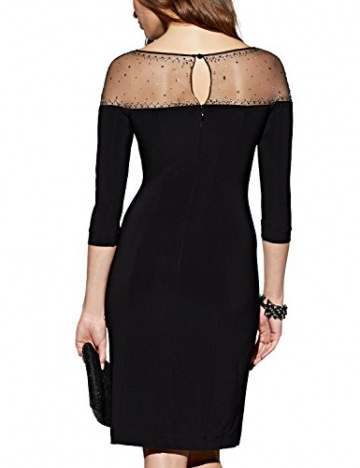 APART Fashion Damen Etui Kleid Jerseykleid, Knielang, Gr. 42, Schwarz - 2