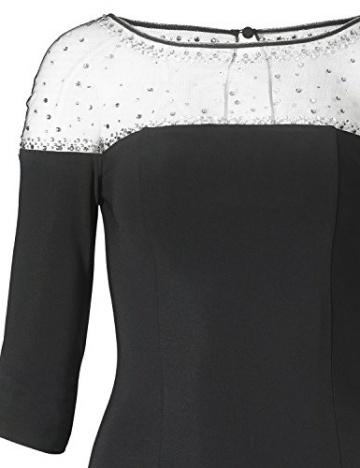 APART Fashion Damen Etui Kleid Jerseykleid, Knielang, Gr. 42, Schwarz - 3