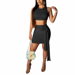 Ariymap Damen Zwei Stück Kleider Sexy Kleid Verband Bodycon Club Party Dress - 1