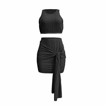 Ariymap Damen Zwei Stück Kleider Sexy Kleid Verband Bodycon Club Party Dress - 3
