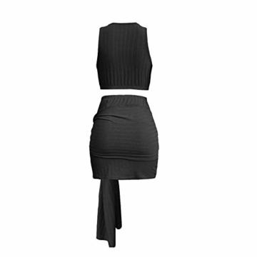 Ariymap Damen Zwei Stück Kleider Sexy Kleid Verband Bodycon Club Party Dress - 4