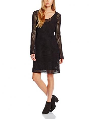 Armani Jeans Damen A-Linie Kleid B5A93LT, Mini, Gr. 34 (Herstellergröße: 40), Schwarz (NERO - BLACK 12) - 1