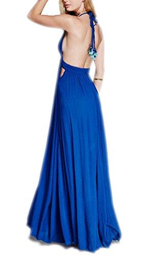 Langes kleid blau ruckenfrei