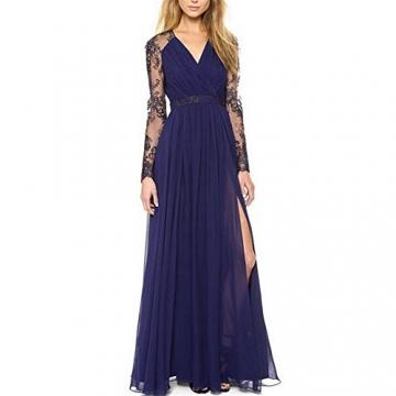 Kleid hellblau mit spitze