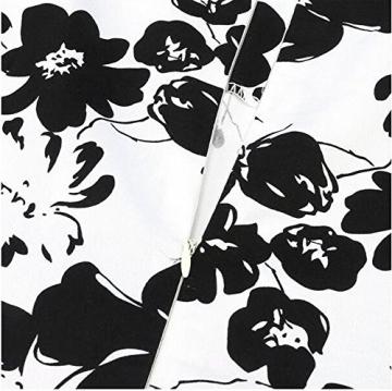 Arrowhunt Damen Mädchen Rückreißverschlüssen Blumen Knielang Ärmellos Kleider -