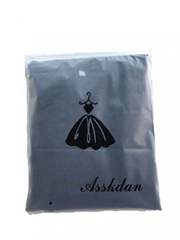 ASSKDAN Mini Hemdkleid Chiffon Lange Ärmel V Ausschnitt Casual Blusenkleid Minikleid - Herbst 2016 (40, Blau) -