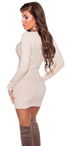 atemberaubenden Knit Lange Pullover/Mini Kleid mit Strass. UK 8/1012/14. S/M L/XL. - 2