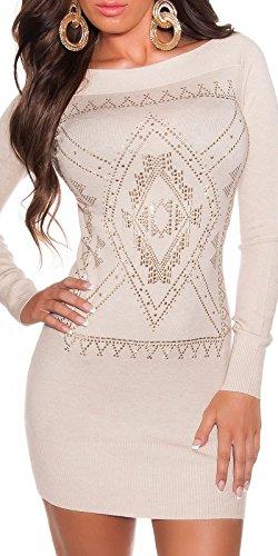 atemberaubenden Knit Lange Pullover/Mini Kleid mit Strass. UK 8/1012/14. S/M L/XL. - 1