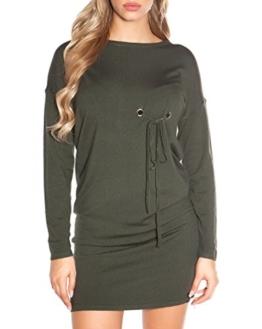 Ausgefallenes Feinstrick-Kleid mit Zier-Ösen One Size (Einheitsgröße) - 1
