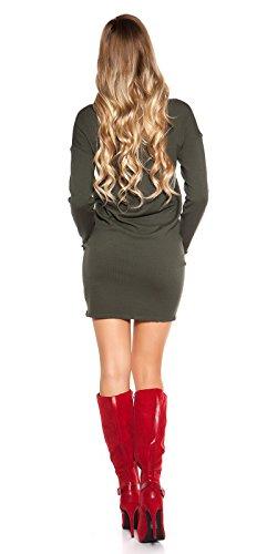 Ausgefallenes Feinstrick-Kleid mit Zier-Ösen One Size (Einheitsgröße) - 4