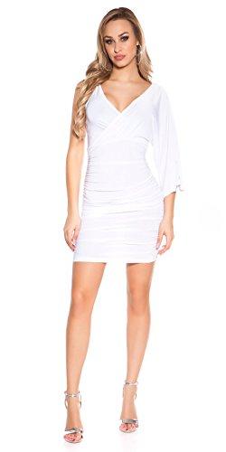 Ausgefallenes Minikleid im One-Shoulder-Style mit Wickel-Ausschnitt S/M - 5