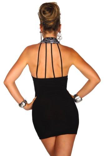Außergewöhnliches Party-Minikleid mit Neckholder-Kragen S - 4