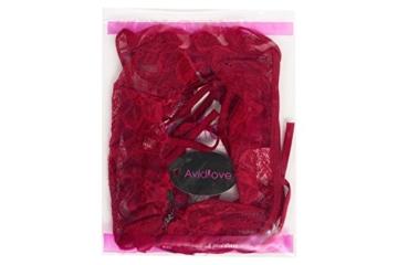 Avidlove Tiefer V-Ausschnitt Dessous Halter Lingerie Reizwäsche Spitze Reizvolle Neckholder Strappy Bodysuit für Damen, Weinrot, M (US M(8-10),UK 12-14, AU 12) - 6