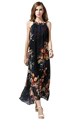 meet 23b95 1685e Babyonline Damen Sommerkleid Dashiki Blumen Kleid