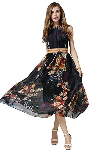 Treffen dbcc9 827e9 Babyonline Damen Sommerkleid Dashiki Blumen Kleid