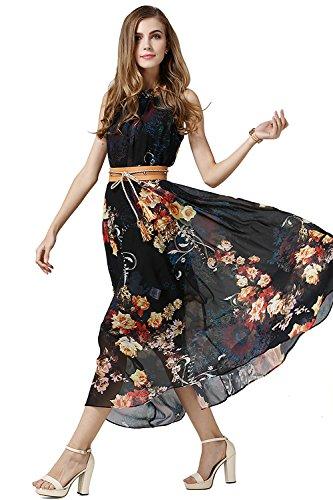 Sommerkleid lang schwarz weiss