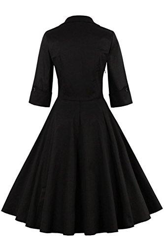 Babyonline Damen Sommer Kleider Polka Dots Kleider Tief V-Ausschnitt Wickelkleid Minikleid Abendkleid A-Linie Partykleid L -