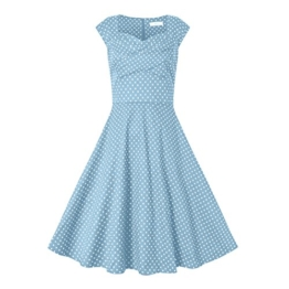 Babyonlinedress Damen Vintage 50er Rockabilly Swing Kleider Himmelblau L - 1
