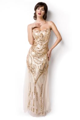 Bandeau Abendkleid Corsagen Stil am Rücken