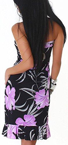 Bandeau Minikleid Floris, Purple - 3