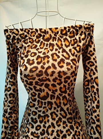 Bandeau Minikleid Leo Leopard Cocktailkleid Party Kleid Abendkleid - 2