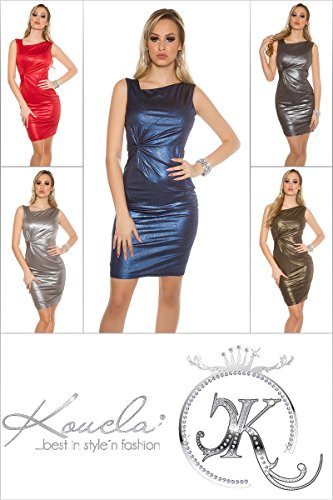 Bandeau Strick-Minikleid m.Pailletten by In-Stylefashion blau -
