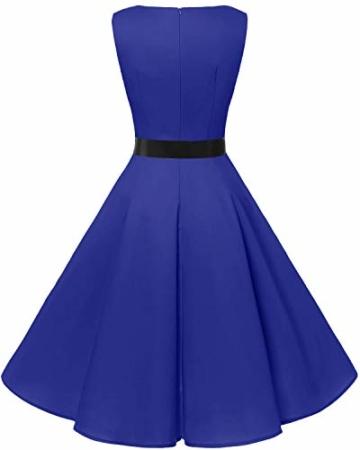 bbonlinedress 50s Retro Schwingen Vintage Rockabilly Kleid Faltenrock Royalblue M - 2