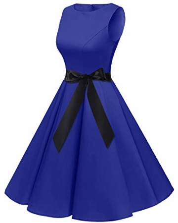bbonlinedress 50s Retro Schwingen Vintage Rockabilly Kleid Faltenrock Royalblue M - 3