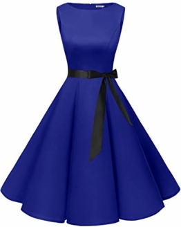bbonlinedress 50s Retro Schwingen Vintage Rockabilly Kleid Faltenrock Royalblue M - 1