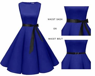 bbonlinedress 50s Retro Schwingen Vintage Rockabilly Kleid Faltenrock Royalblue M - 6