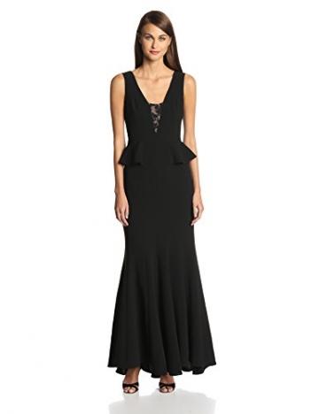 BCBGMAXAZRIA Damen Schößchen Kleid, Uni Gr. 38, schwarz - 1