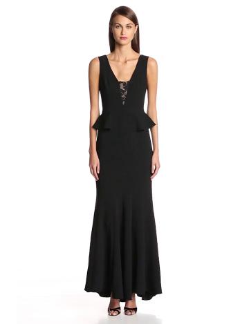BCBGMAXAZRIA Damen Schößchen Kleid, Uni Gr. 38, schwarz - 3