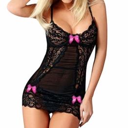 BeautyTop Damen Dessous, Frauen Dessous sexy erotik Dessous nachtwäsche sexy Versuchung Nightgown Unterwäsche Spitze Bowknot Babydollkleid Dessous - 1